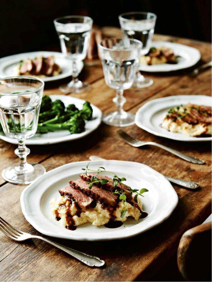 Anka med balsamicosås och potatispuré med karamelliserad lök och äpple | Systrarna Eisenman | Bloglovin'