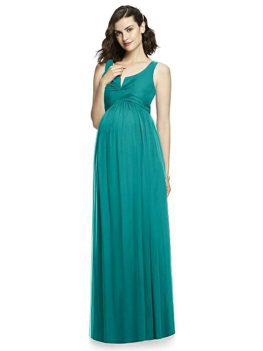 After Six Maternity Bridesmaid Dress M424 in Jade. Dessy Group