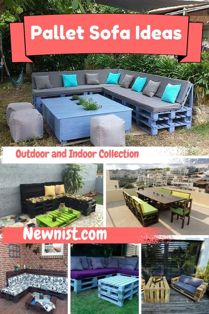 Step by Step #Pallet #Sofa Ideas – Outdoor and Indoor - 10 DIY Furniture Made From Pallets Wood | NewNist