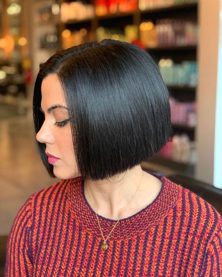 That keratin bob life by @gwendoeshair 🤩 in 2020   Bob hairstyles, Hair styles, Angled bobs