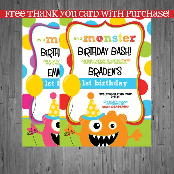 17+ Best Ideas About Monster Birthday Invitations On