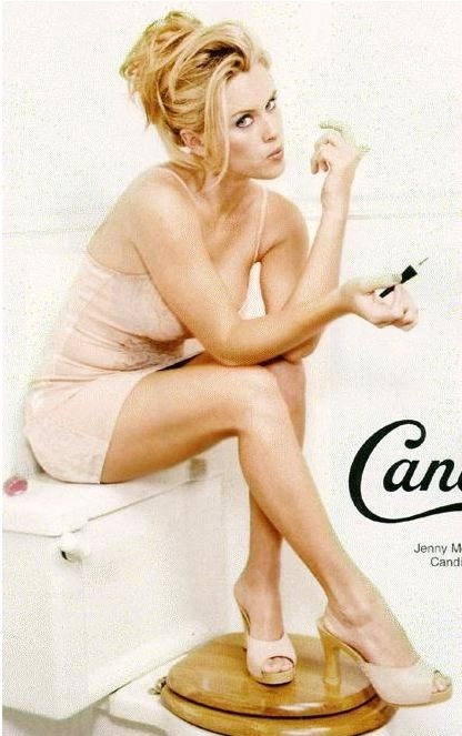 Nineties ad for Candies shoes featuring Jenny McCarthy.