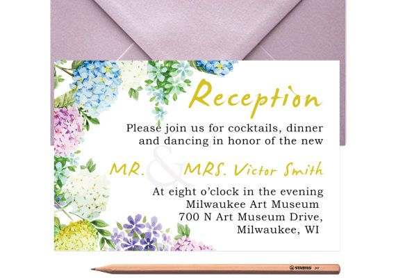 WEDDING RECEPTION Rustic Invitation Card by LoveArtsStationery