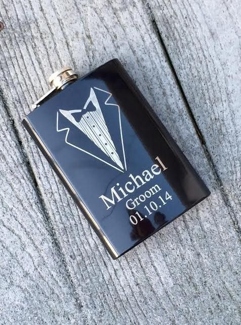 Groom and Groomsmen Tuxedo Flask
