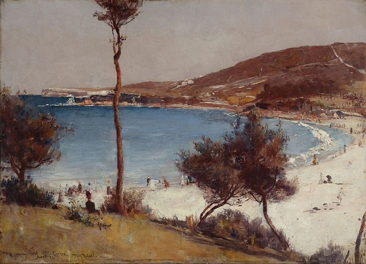 Holiday Sketch at Coogee Beach Oil 1888 Tom Roberts