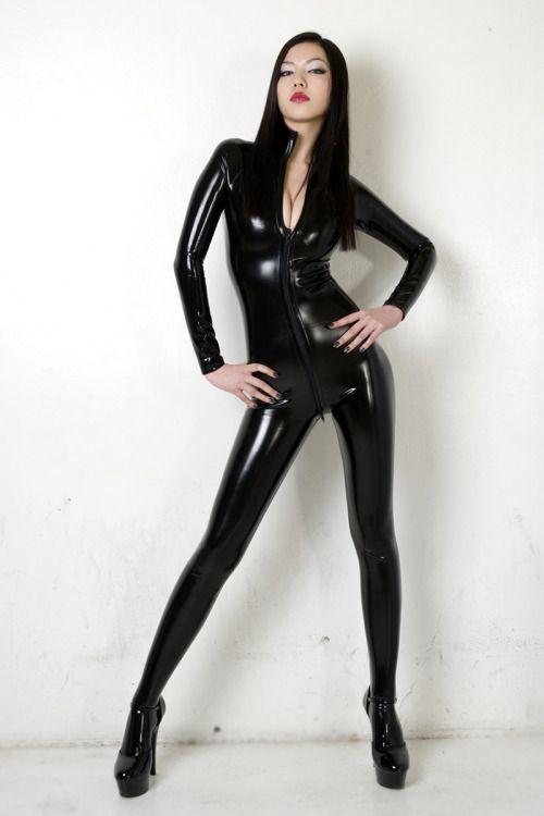 Girls Latex Cat Suit