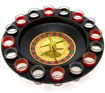Shot Glass Roulette – Drinking Game Set (2 Balls and 16 Glasses) The shot glasses don't spin, but the inside gold part spins. Creative drinking game that is fun and increasingly so the more drunk you get.