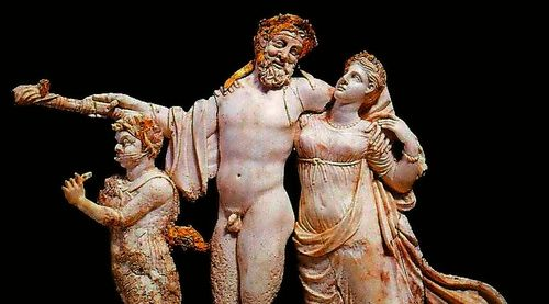The end is nigh for Eros, Dionysos and Aphrodite (ivory carving from Aigai, near Thessalonica, 2nd c. BC)