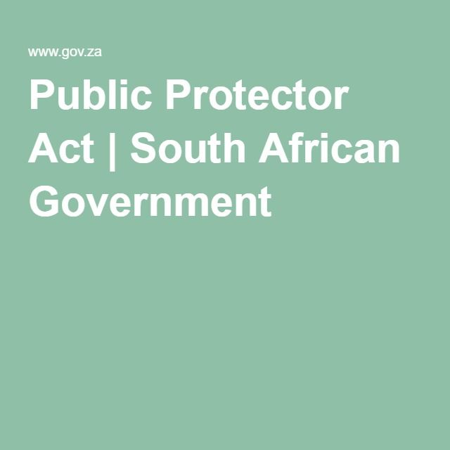 Public Protector Act | South African Government
