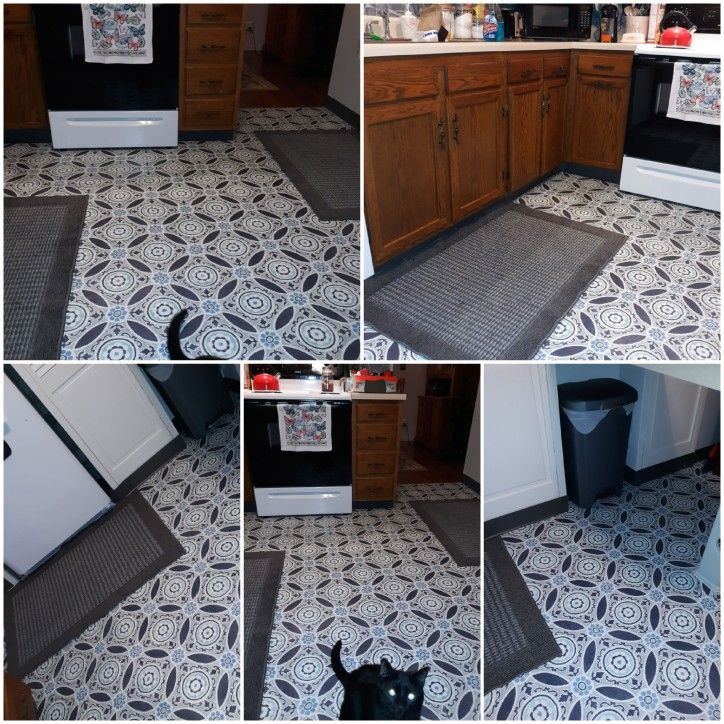Floor Pops Peel And Stick Flooring Did Myself Very Easy To Do And High Quality Flooring Home Decor House