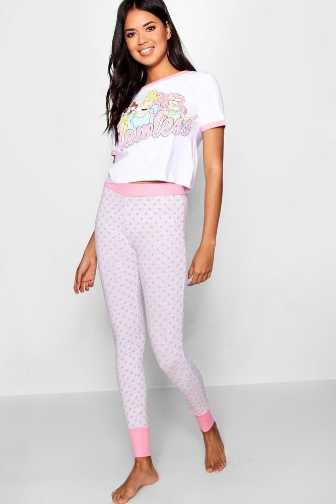 2cbb28c38b68 20 Boohoo Womens Disney Princess Flawless Legging Set | Cotton ...