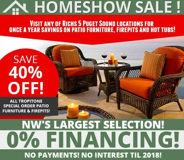 Seattle Home Show sale at Rich's! Check out our amazing deals on patio  furniture, - 69 Best Images About Rich's Super Sales On Pinterest Fire Pits