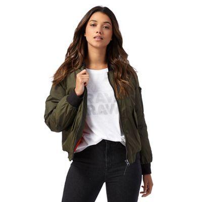 G-Star Raw Khaki bomber jacket | Debenhams