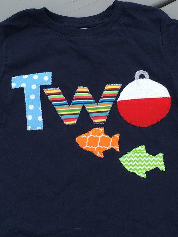 Boys Fishing Birthday T Shirt 1st 2nd Personalized Tee Girls