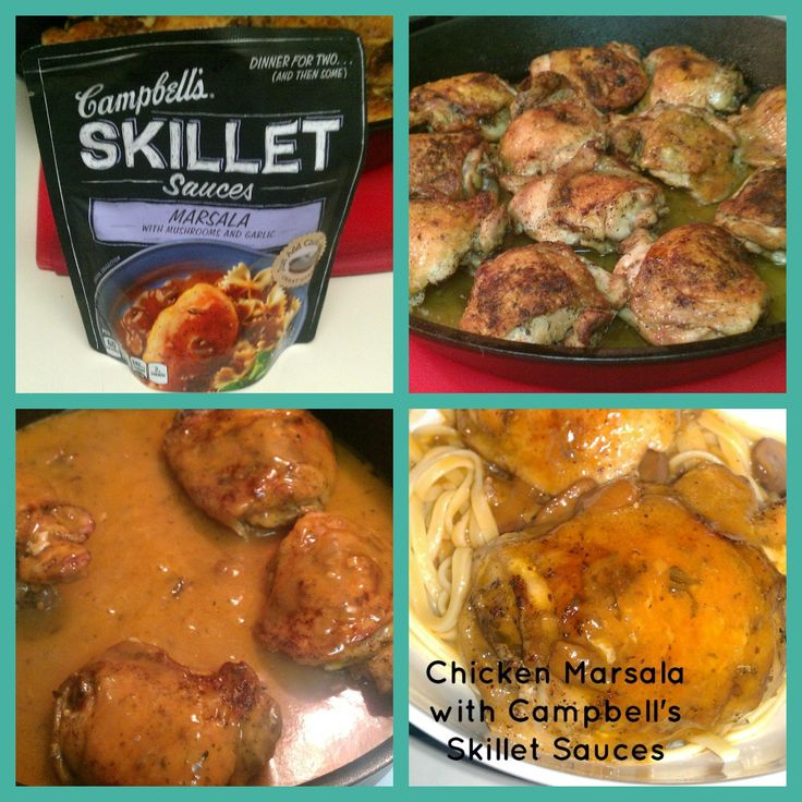 A quick and easy Chicken Marsala #recipe prepared with Campbell's Skillet Sauces.