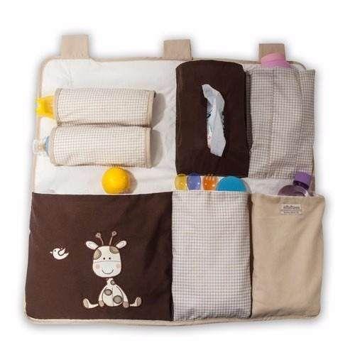 organizador para cuna de bebe pañales biberon jirafita
