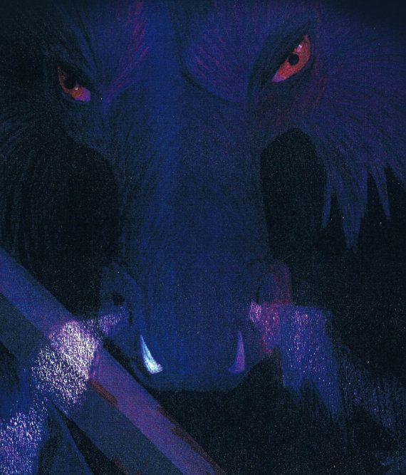 """Limited Edition, Purple Dragon Fantasy Print, 8 1/2"""" x 11"""" Colored Pencil"""
