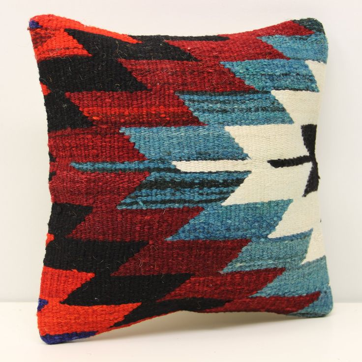 Handmade kilim pillow cover 12x12 inch (30x30 cm) Throw Kilim pillow cover Accent Small Pillow cover Decorative Kilim Cushion Cover. Turkish handmade Oriental kilim pillow cover By Kilimwarehouse Size: 12x12 Inches / 30x30 Cm Front side: Vintage Handmade kilim rug, material wool & cotton. Back side: Cotton fabric and hidden zipper. Pillow insert is not included. Only Dry clean. Please note that colors may vary slightly on different computer monitors. Shipment: Inter worldwide, delivery…