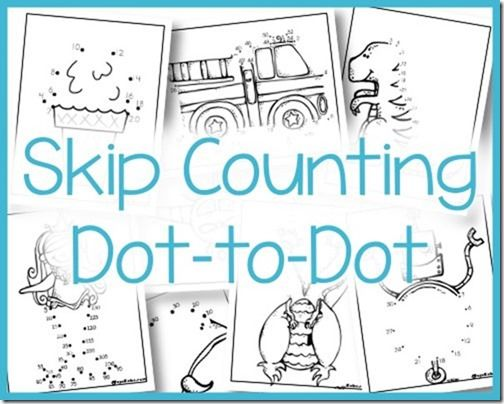 Skip Counting Dot to Dot - 2s, 3s, 5s, and 10s