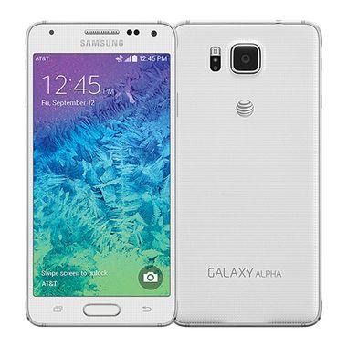Samsung Galaxy Alpha 32GB White - AT&T: Rough Shape