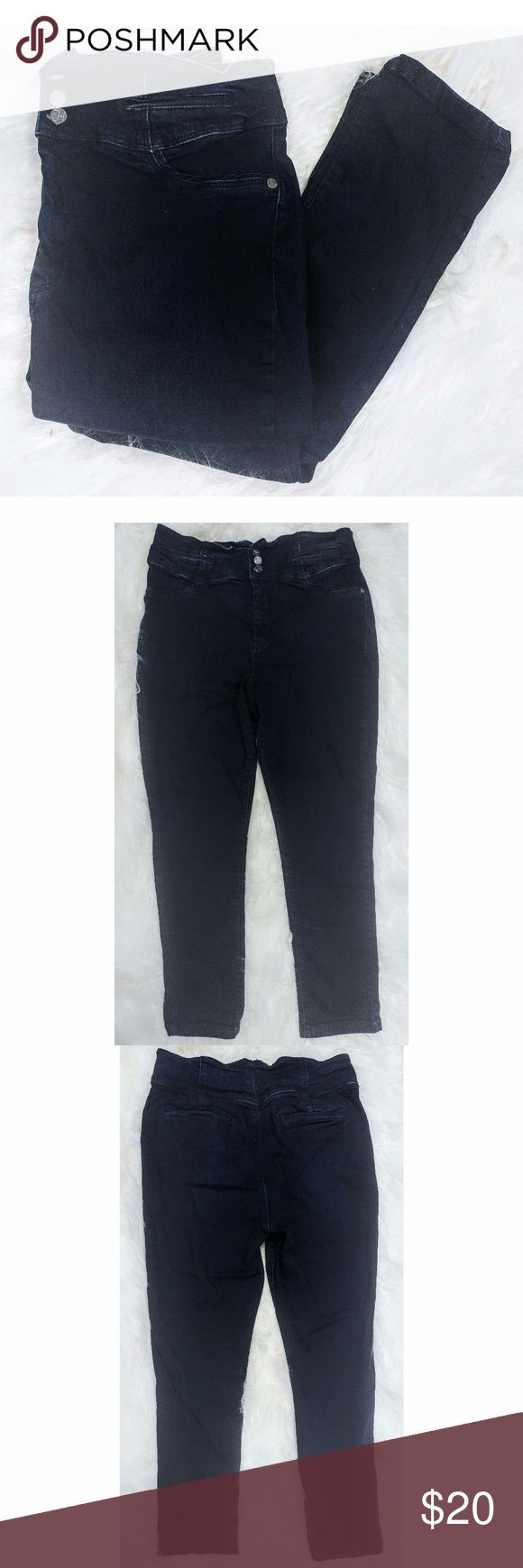 """NY & Co High Waisted Jennifer Hudson Skinny Jeans Trendy and surprisingly comfy high waisted jeans (these are soft and have some stretch). Excellent used condition, worn a couple of times but they aren't my size anymore. Waist - 17"""", length - 38"""" New York & Company Jeans Skinny"""