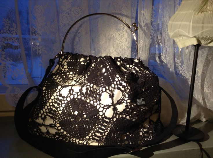 Jumbo -bag. Risako. Made of recycled lace.