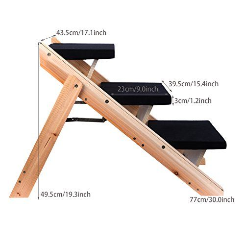 Pet Dog Steps, JQstar Wooden Folding Home Pet Steps Stairs Ramp 3 Steps Ladder   Check it out-->  http://mypet.bestwirelessmicrophones.us/product/pet-dog-steps-jqstar-wooden-folding-home-pet-steps-stairs-ramp-3-steps-ladder/  #pet #food #bed #supplies