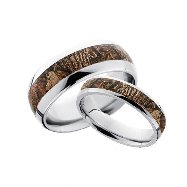 Best Camo Ring His and Hers Domed