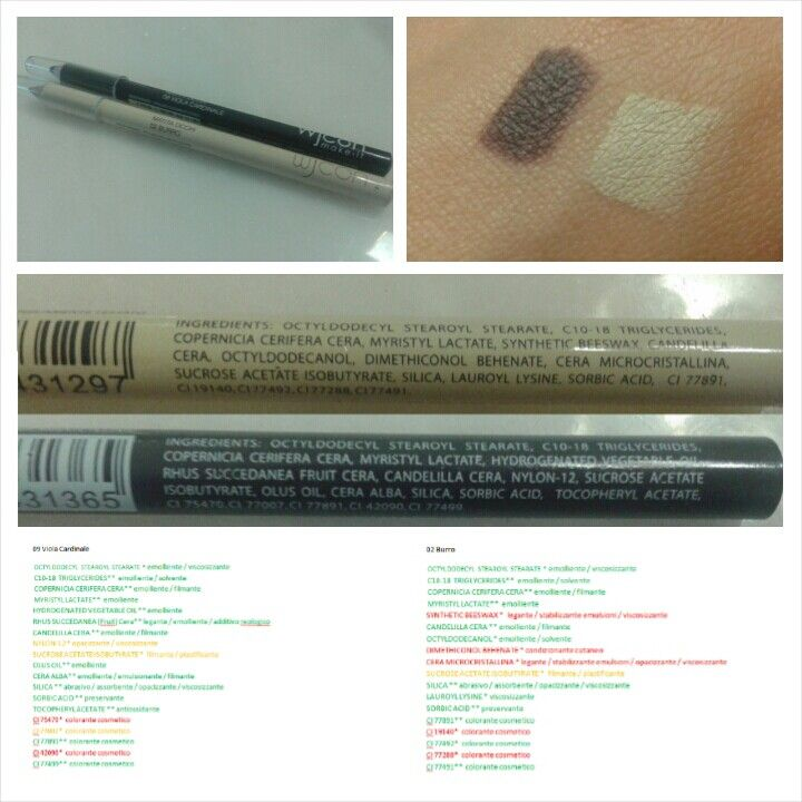 Review: Eyeliner– 02(Burro) 09(Viola Cardinale) - WjCon Price: 2,90 euros PRO • Full Color • Full line • Long duration  • Great Price/quality ratio • Easy availability CONS • INCI is not the better one