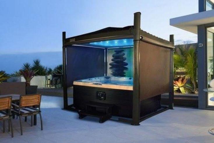 Clever diy hot tub gazebo ideas for winter in 2020 hot