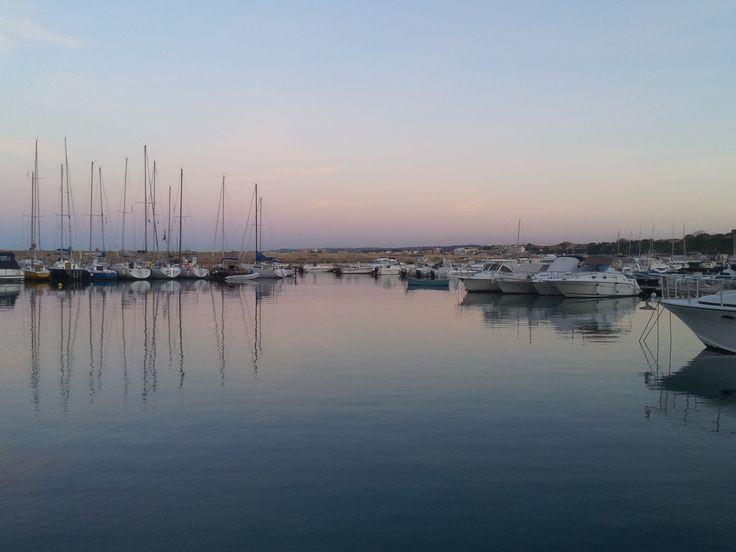 Splendido tramonto sul Porto di Numana