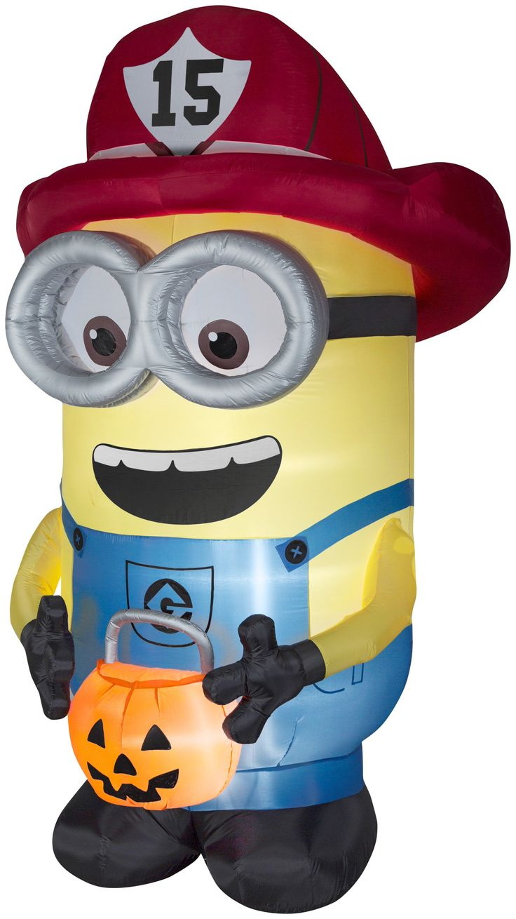 8.5' Airblown Minion as Giant Fireman Halloween Inflatable