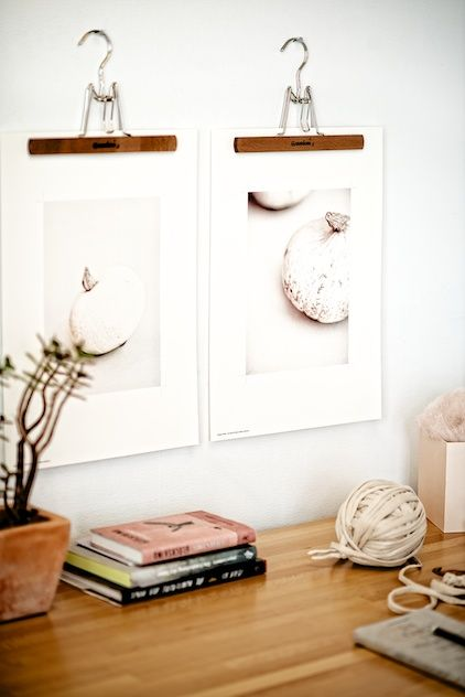 Fun DIY: Use Trouser Hangers To Put Your Prints Up