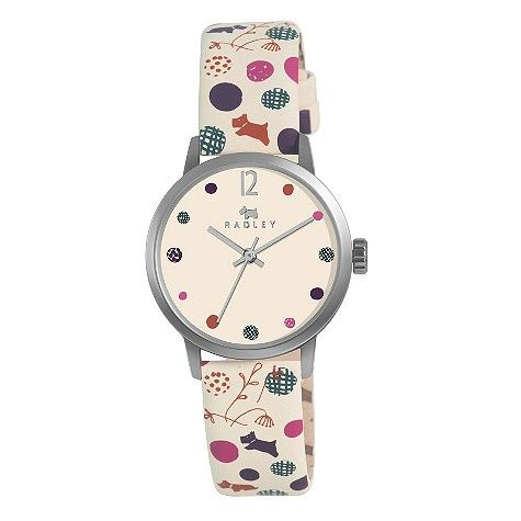Radley Ladies' Stainless Steel Cream Leather Strap Watch- H. Samuel the Jeweller