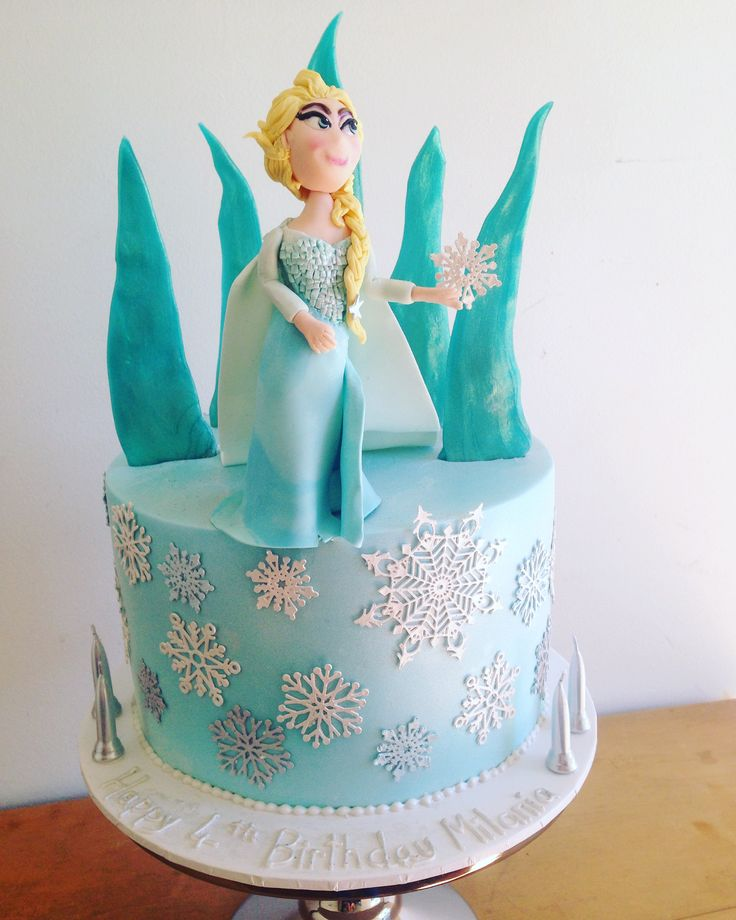 Elsa and Frozen birthday cake Lustre, cake lace, pulled sugar