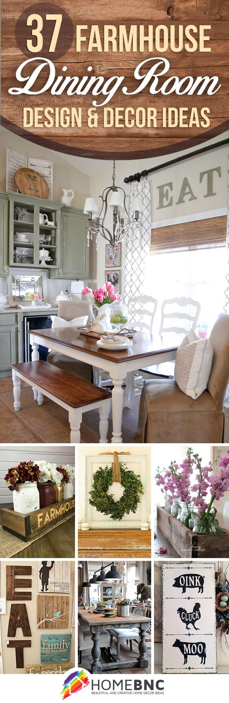 37 timeless farmhouse dining room design ideas that are simply charming - Dining Room Decor Ideas Pinterest