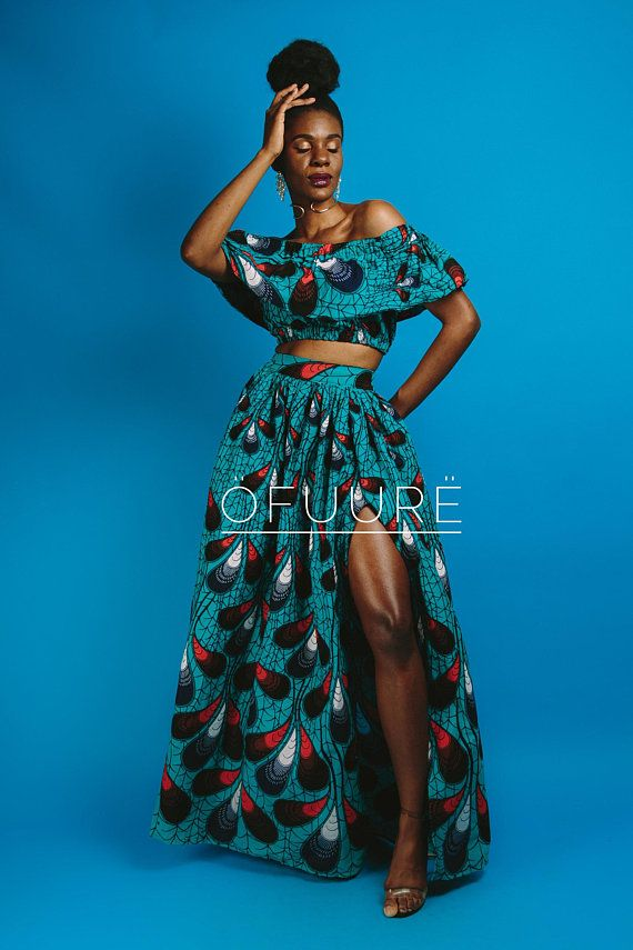 c81b2f120e African print maxi skirt 2 side pockets elastic at the back Made with 100%  cotton high quality Skirt is approx 46 inches long