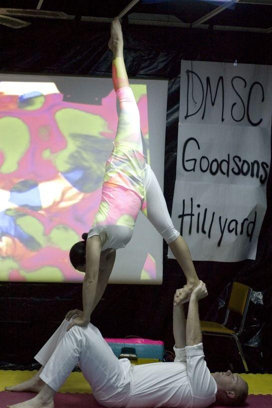 "Needle Scale on Knees- ""Sensory Overload"": Des Moines, Iowa; Flying Eagle Acrobalance"