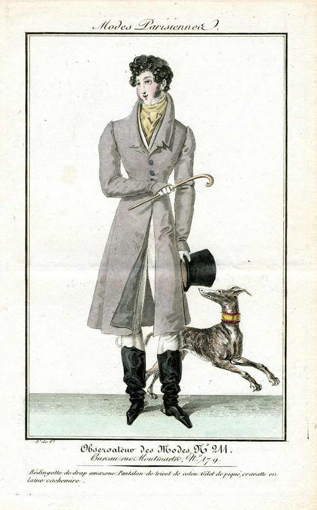 Gentleman in riding gear. Observateur des modes