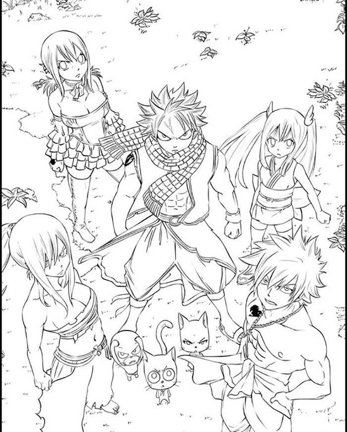 Coloriage Kagura Mikazuchi Du Manga Fairy Tail Coloriage Fairy