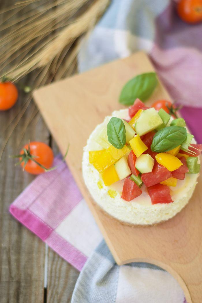 cheesecake di feta e verdure fresche