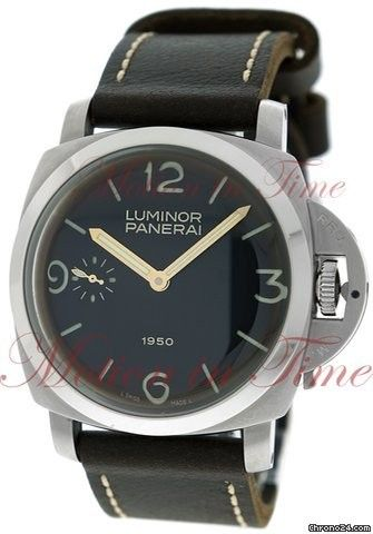 Panerai Luminor 1950, Black Dial, Limited Edition to 1950 Pieces - Stainless Steel on Strap Price On Request