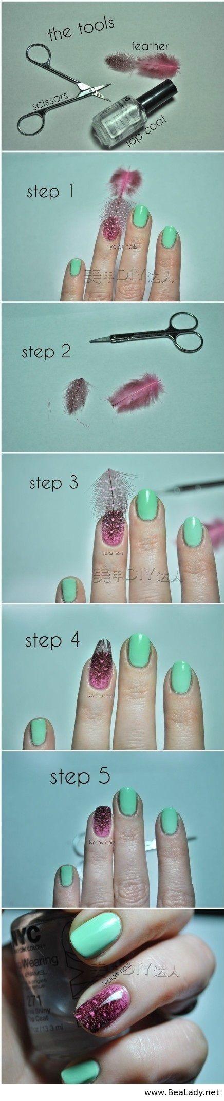 23 Creative tutorials for nails - BeaLady.net