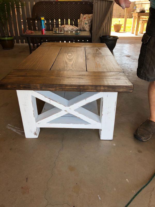 Chunky Farmhouse Coffee Table Diy Farmhouse Coffee Table Coffee Table Farmhouse Woodworking Furniture