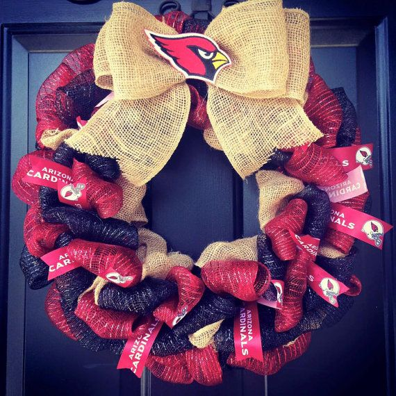 Custom Made NFL Wreath : Arizona Cardinals by WreathsbyKrisB