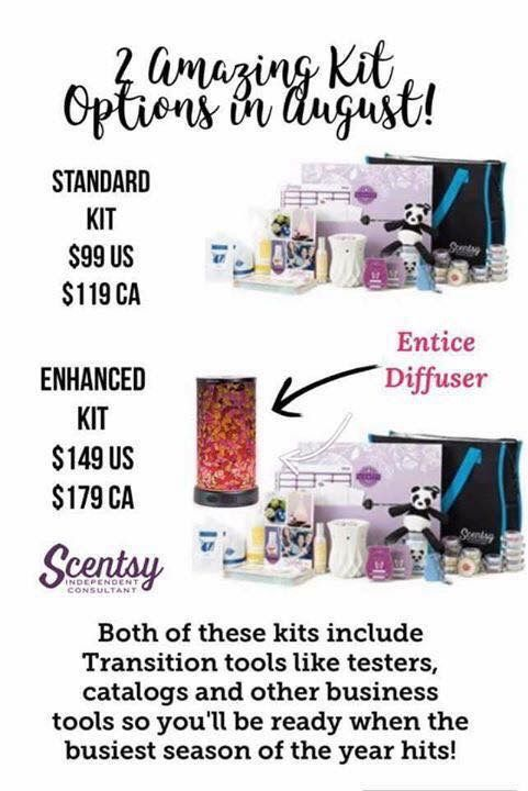 Our amazing kits this month! Never had a diffuser been included in a starter kit!! It's insane! #scentsy #starterkit #diffuser #transition #fun #sweet #getyours