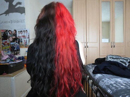 7 best images about Half Red!!! ;) Half Black!!!!!! ;D on ...