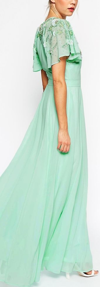 embellished mint gown