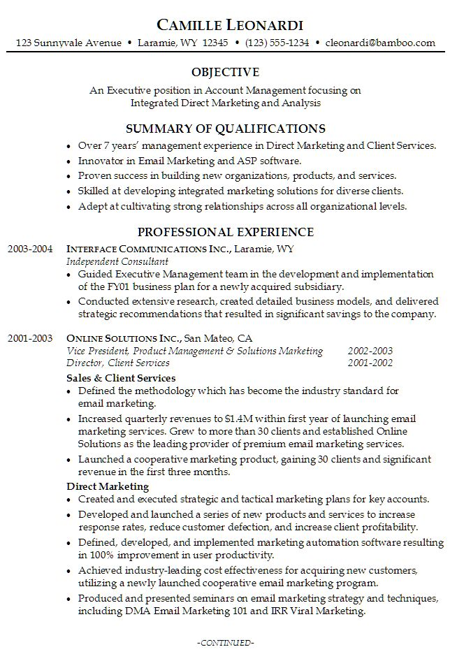 Más de 25 ideas increíbles sobre Examples of resume objectives en - marketing director resume