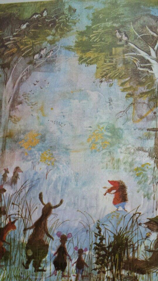 Gordon Davey illustration from Fritz the Hedgehog Violinist